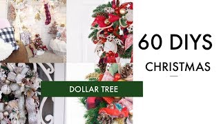 🎄60 DIY DOLLAR TREE CHRISTMAS DECOR CRAFTS 🎄WREATH, GARLAND, TREE, ORNAMENTS