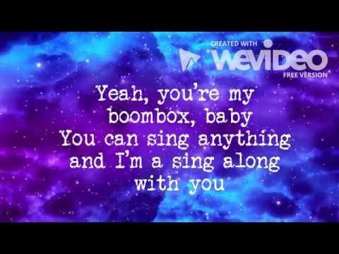 Laura Marano - Boombox ( lyric video )
