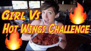 GIRL VS DEMON HOT WINGS CHALLENGE