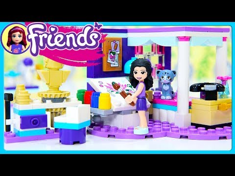 Emma's Deluxe Bedroom LEGO Friends Build Review Silly Play Kids Toys
