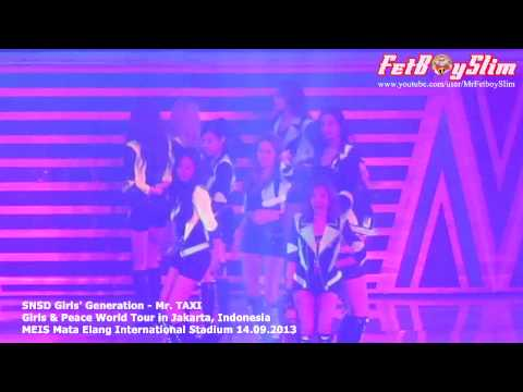SNSD GIRLS GENERATION - MR. TAXI live in Jakarta Indonesia 2013...