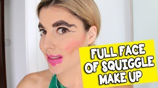 FULL FACE OF SQUIGGLE MAKE UP // Grace Helbig