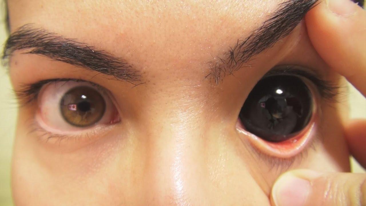 Как сделать себе чёрные глаза в жизни 109