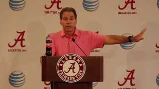 Nick Saban Goes Off on Media at Press Conference: October 5th, 2015