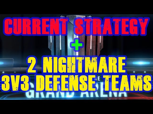 Current Strategy! Plus, 2 NIGHTMARE 3v3 Defensive Teams! Star Wars Galaxy of Heroes  SWGOH