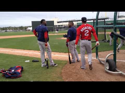 Pablo Sandoval, Hanley Ramirez, David Ortiz hang in BP