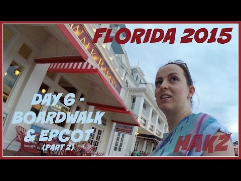 Florida 2015 - Day 6 (2/2) The Boardwalk & Epcot (28 Apr 2015) GOPRO