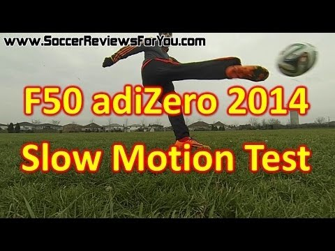 Adidas F50 adizero miCoach 3 2014 - Slow Motion Play Test + Adidas Brazuca
