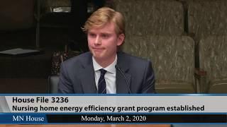 Nursing home energy efficiency grants discussed  3/2/20