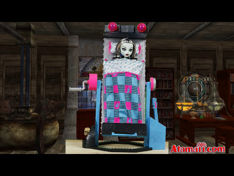 Monster High Doll Frankie Stein Mirror Bed Playset Toy Review Unboxing