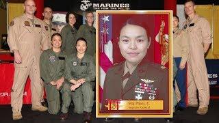 Nữ phi công gốc Việt đầu tiên của Thủy Quân Lục Chiến Mỹ được thăng cấp trung tá
