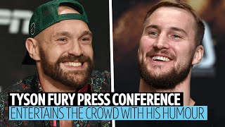 "Full Tyson Fury v Otto Wallin press conference | ""We'll go for a beer afterwards!"""