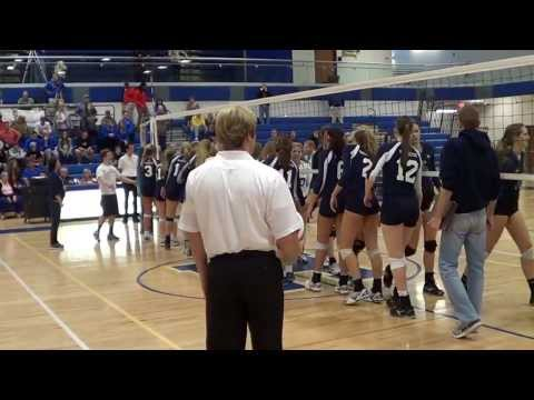 Marquette High School Varsity Girls Volleyball - Sectionals Win
