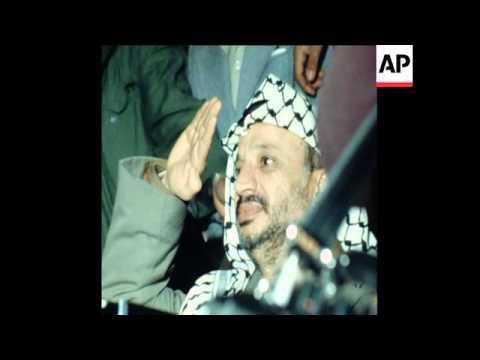 SYND 7 1 79 YASSER ARAFAT ATTENDING ANNIVERSARY PARADE OF THE PALESTINIAN REVOLUTION