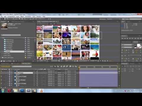 Crear y animar un video wall - Tutorial After Effects