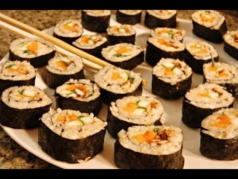 Vegetarian Sushi Recipe - Healthy Vegetarian Recipes On Video