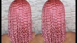 DYING MY HAIR PINK | NATURAL HAIR