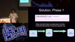 Defcon 21 - How my Botnet Purchased Millions of Dollars in Cars and Defeated the Russian Hackers