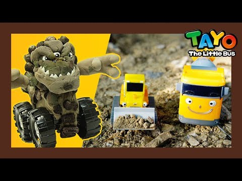 Tayo Strong heavy vehicles are defeated?! l Golem Truck l Tayo Rangers #4 l Tayo The Little Bus toy