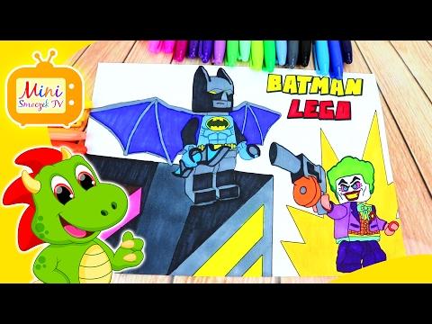 Lego Batman Film Kolorowanka Nauka Kolorów Dla Dzieci PO POLSKU Edukacyjny Filmik Dla Najmłodszych