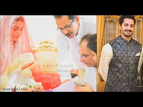 Aiza Khan and Danish Taimoor Nikah Pictures