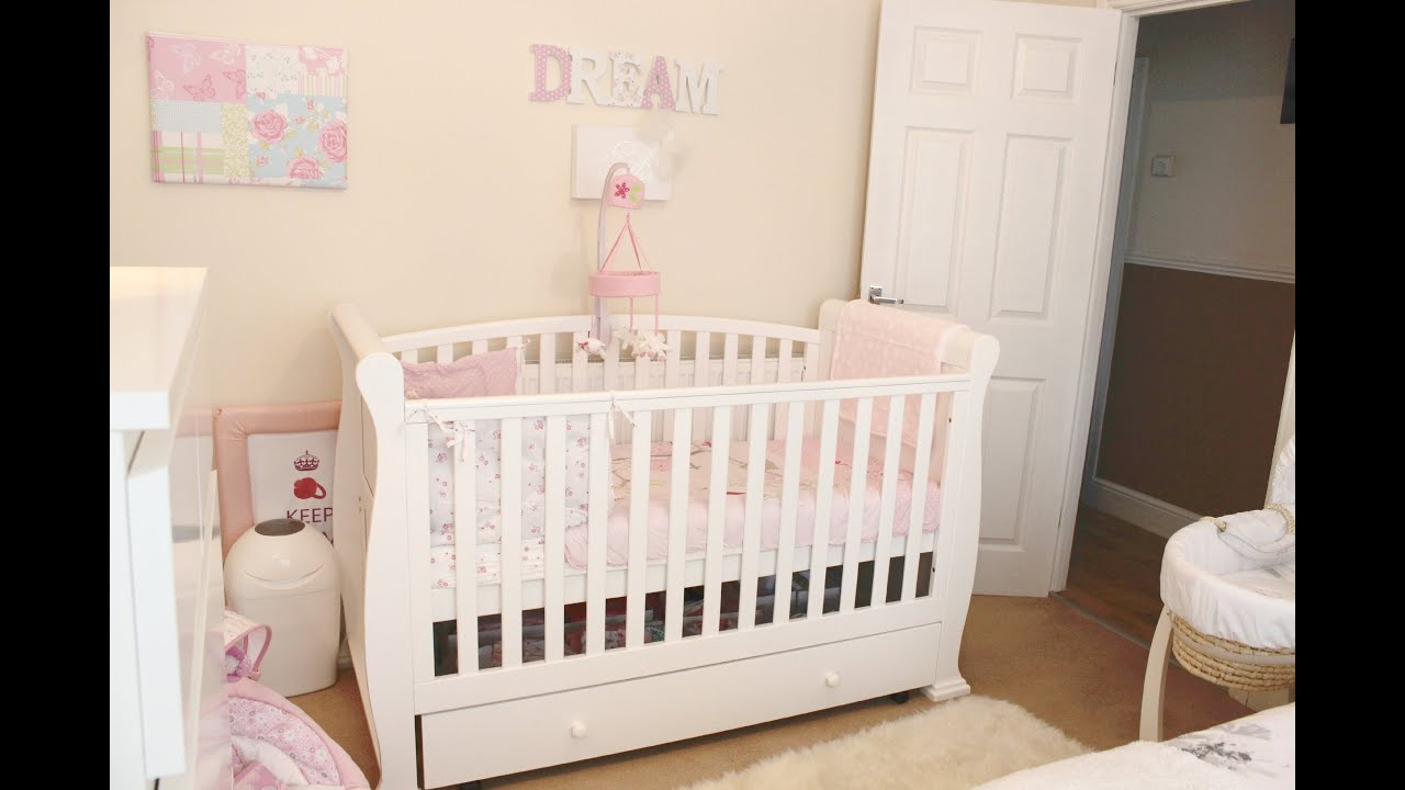 Baby girl nursery room tour youtube - Idea for a toddler girls room ...