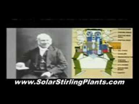 Free Solar Stirling Energy Motors and Generators Engine Plans