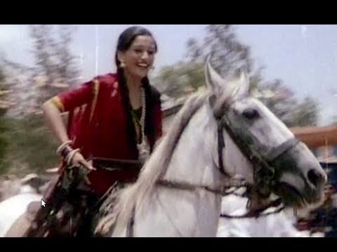 Madhuri Dixit Horse Riding Comedy Scene - Hindi Moive Abodh