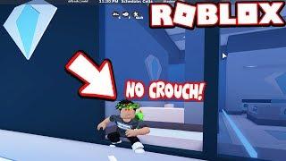 NARUTO CROUCH GLITCH!!! *NO CROUCH* (Roblox Jailbreak)