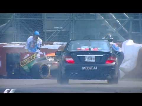 Massa Perez crash, Canada Montreal F1 GP 2014