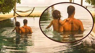 Akshay Kumar With Daughter Nitara In The Pool