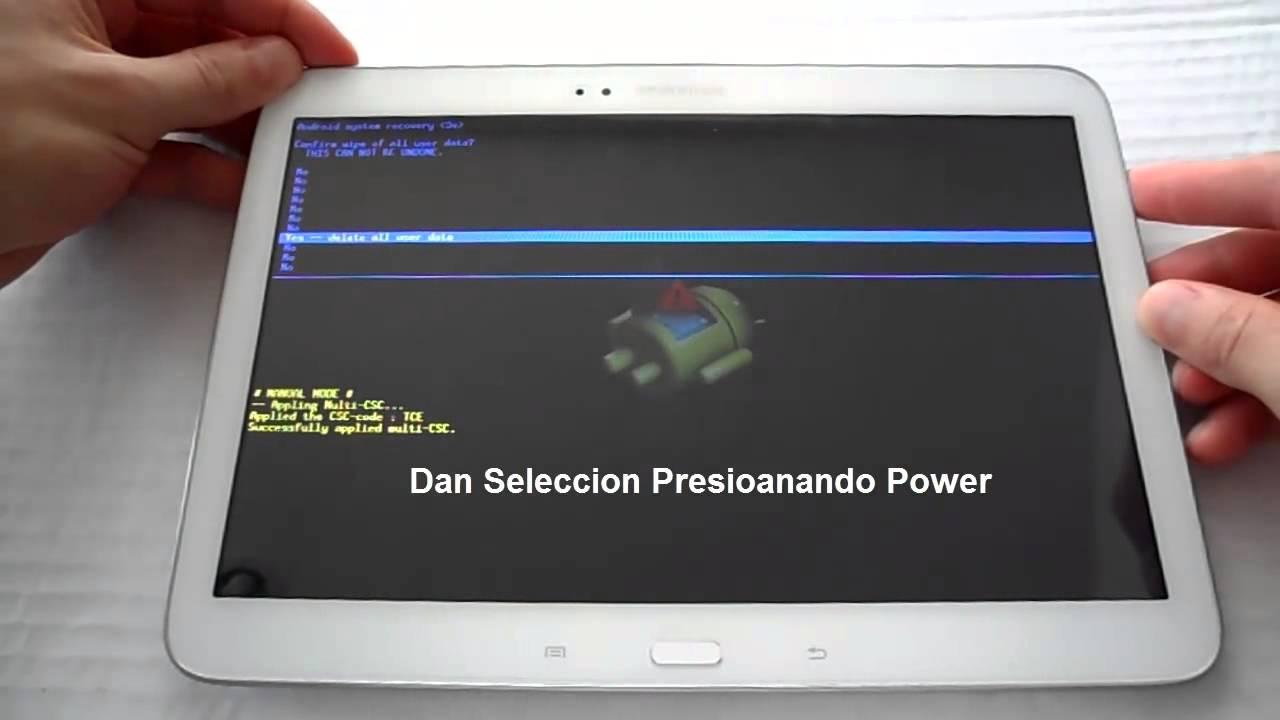 Как сделать сброс на планшете самсунг галакси таб 2