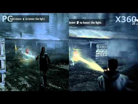 Alan Wake PC vs Xbox 360