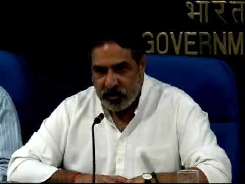 Commerce Minister Sh. Anand Sharma briefing media on Cabinet decisions regrading FDI-part2