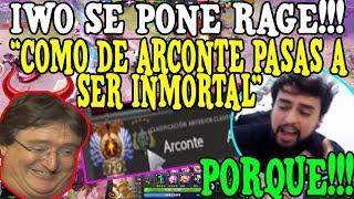 PORQUE!!! IWO SE PONE RAGE AL ENCONTRARSE CON 1 ARCONTE  BOOSTEADO HASTA IMMORTAL-DOTA2