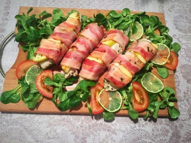 Вкуснятина! Куриная грудка в беконе // Chicken breast wrapped in bacon