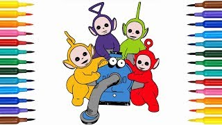 Learn Colors For Kids With Teletubbies Drawing and Coloring Pages