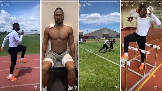 Raiders Antonio Brown Working On Routes, Getting Sharp For The Season!