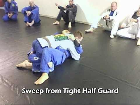 Sweep from tight Half Guard Image 1