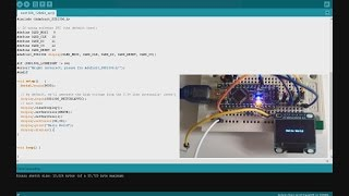 Arduino SSD1306 128x64 OLED LCD SPI - Hello World