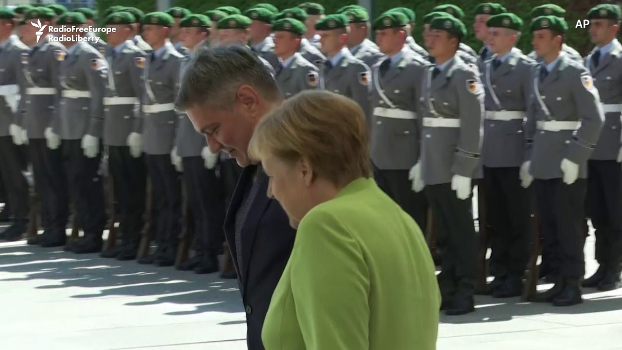 Bosnian Prime Minister Zvizdic Meets Merkel In Berlin