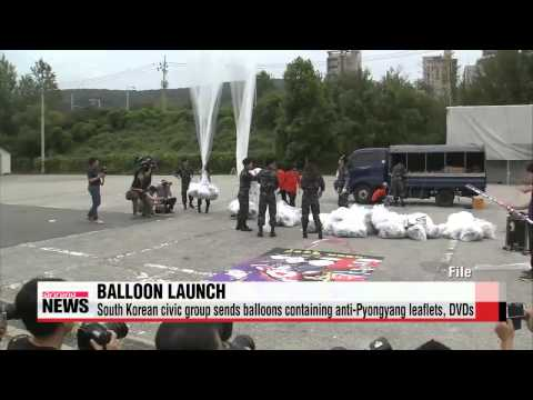 South Korean civic group sends balloons containing anti-Pyongyang leaflets, DVDs