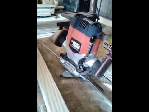 Como Usar Tupia de Coluna - RP250K - Black & Decker
