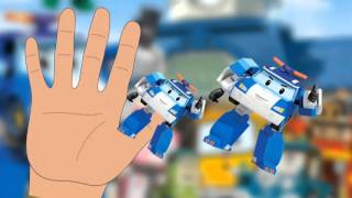 Robocar Poli mini cartoon Family Finger Roy Amber Helly Mini