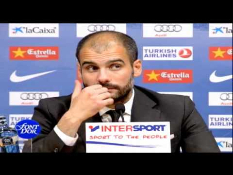 Pep Guardiola en conferencia de Prensa despues de la victoria 5 - 0