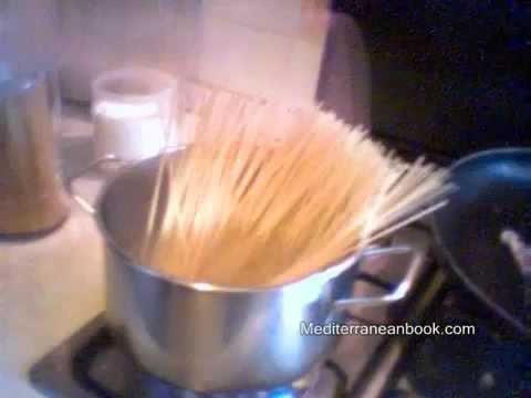 Healthy Mediterranean diet recipe with Italian Pasta