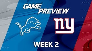 Download Detroit Lions vs. New York Giants   Week 2 Game Preview   NFL 3Gp Mp4