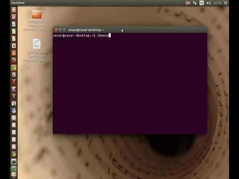 Probando la webcam en Ubuntu 14.04 con cheese
