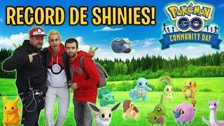 RECORD de SHINIES en COMMUNITY DAY con DavidPetit & Midesades !! RETO SHINY EXTREMO !! - Pokemon Go