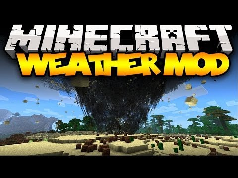 Minecraft: WEATHER! (TORNADOES, TSUNAMIS, FLYING BLOCKS & MORE!) | Mod Showcase